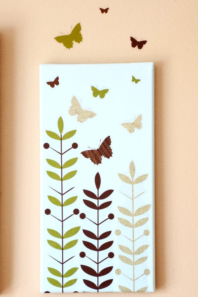 Butterfly canvas art I Heart Nap Time | I Heart Nap Time - Easy