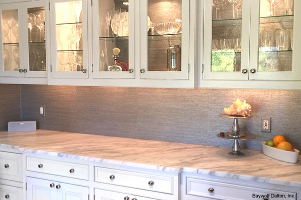 Wallpaper in a kitchen