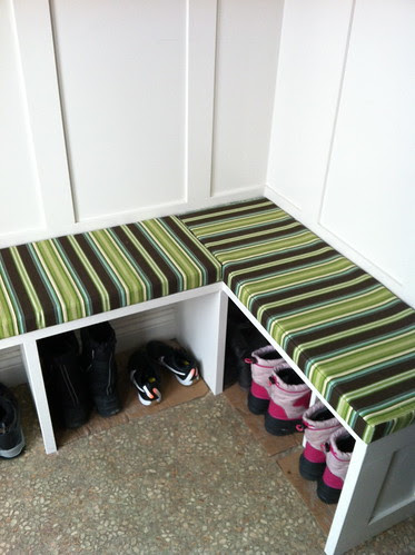 bench cushions  #benchcushions #mudroom #sewing