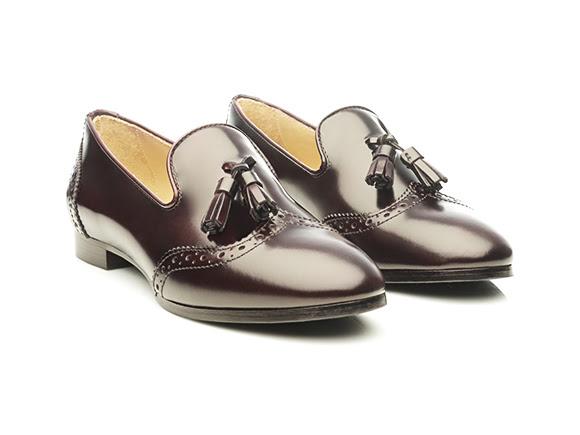 Loafers en polished calf bordeaux