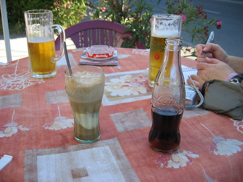 Post-ride refreshment in Balf