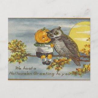KRW Vintage Halloween Postcard postcard