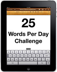 25 Words Per Day Challenge (cc) Douglas Cootey