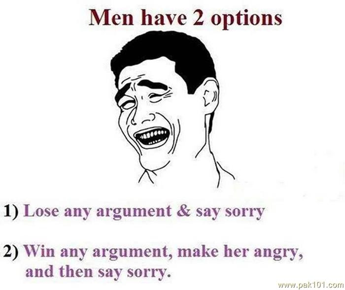 Funny Picture Men Have Two Options Pak101com