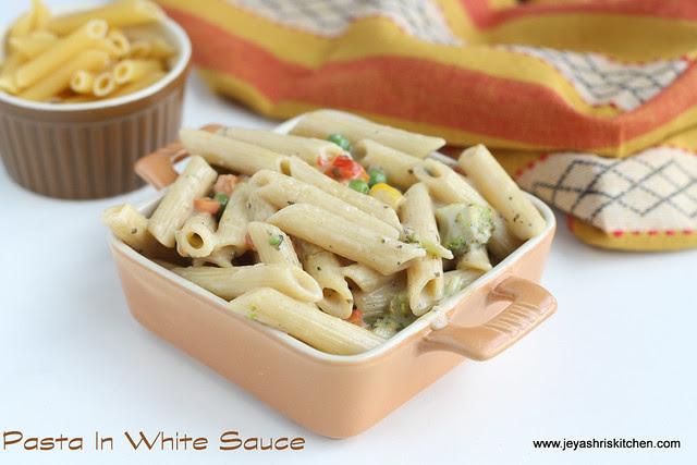 pasta in white sauce 1