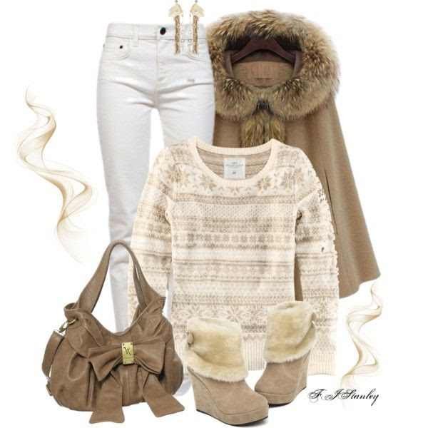 """Winter Caramel"" by fiona-stanley on Polyvore"
