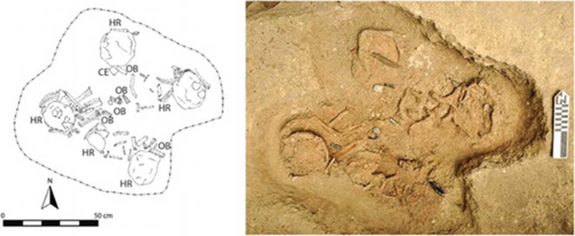 Los restos de cinco de los niños sacrificados fueron hallados en un enteramiento múltiple. (Flory Pinzón)