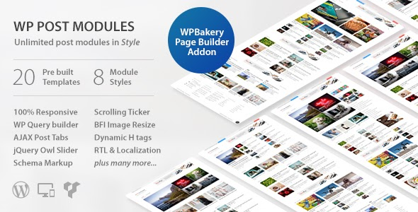 Download free WP Post Modules for NewsPaper and Magazine Layouts WordPress plugin v2.9.1