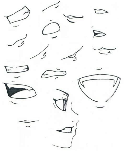pin  darynn earls  teeth nose drawing anime mouth