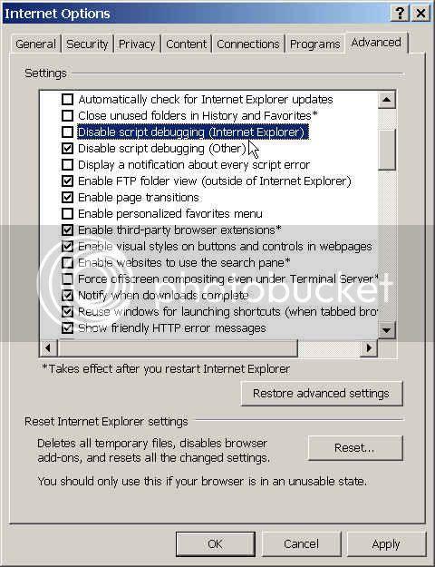 Blog Rat: How to enable script debugging on Internet Explorer