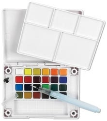 Sakura KOI WATERCOLORS SKETCH BOX 24 Colors With Waterbrush XNCW24N