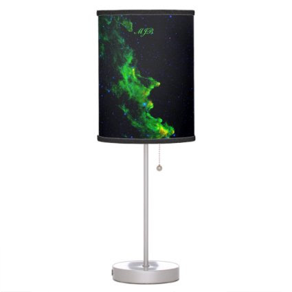 Monogram, Witch Head Nebula deep space image Desk Lamp