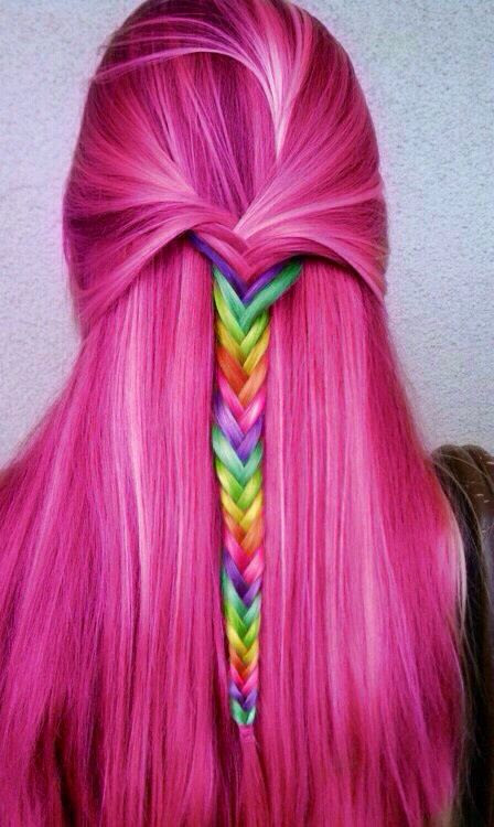 30 Rainbow Colored H