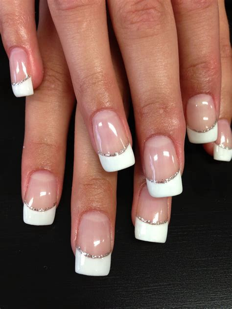 Bridal nail art! Simple beauty French tips   Beauty works
