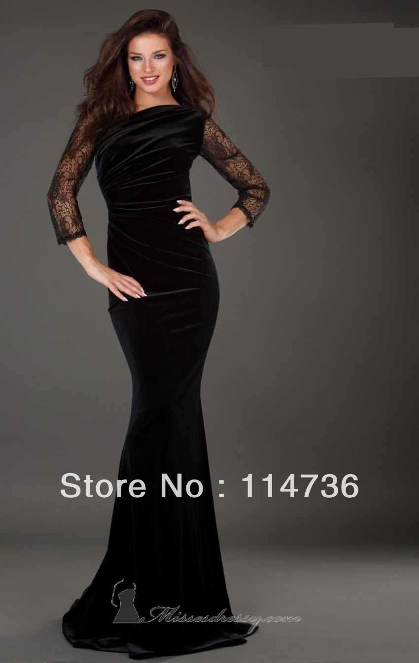 Black evening dress sale
