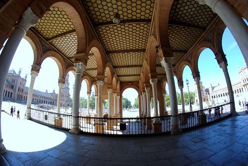 Columnas Plaza España Sevilla