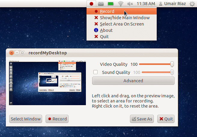 Screen Recorder Linux