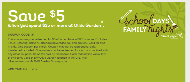 Olive Garden Coupons November 2016 The Expert