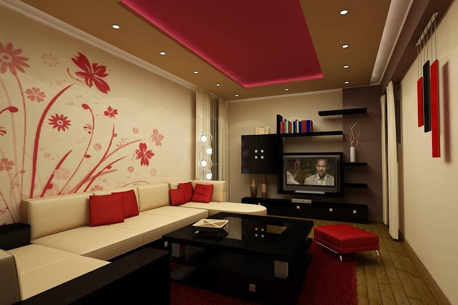 Living Rooms In Red Interior Design Ideas