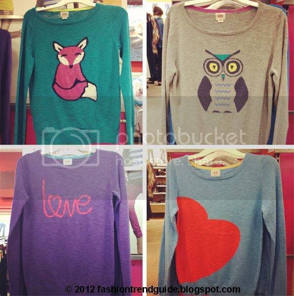 Mossimo Target owl sweater, fox sweater, heart sweater, love sweater, Target novelty knits