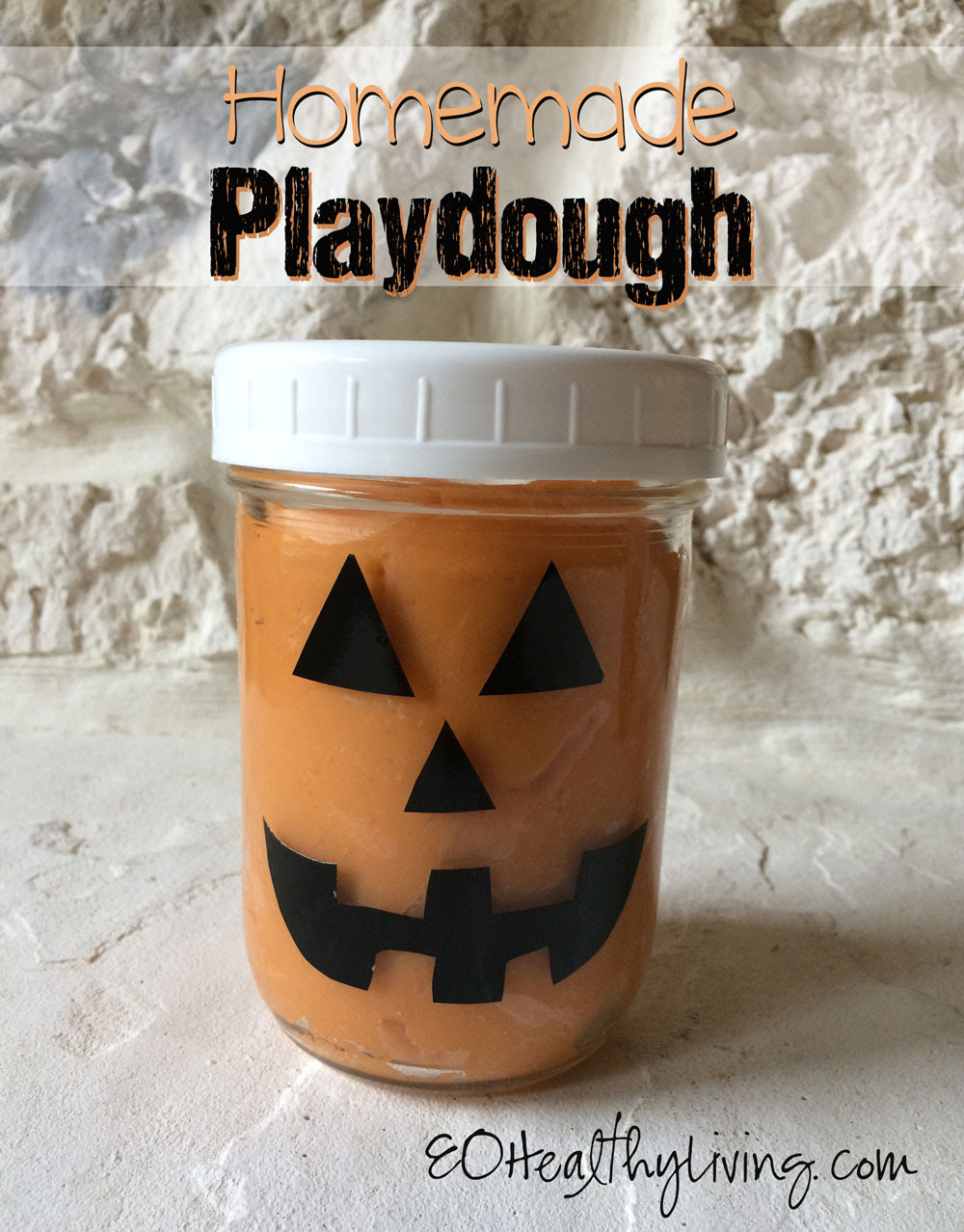 Soft Homemade Playdough scented with essential oils