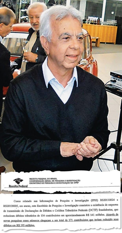 MÁGICA O empresário gaúcho Renato Conill e um trecho do relatório da Receita Federal (abaixo). Prejuízo gigantesco aos cofres públicos (Foto: Alan Marques/Folhapress)
