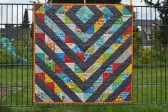 hst quilt half square triangle coal baby