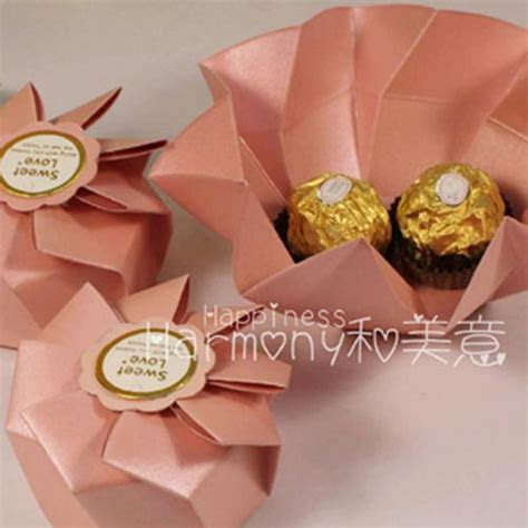 Cheap Light Pink Wedding Favor Box Candy Sweet Gifts Bags