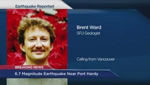 SFU geologist Brent Ward on Port Hardy earthquake