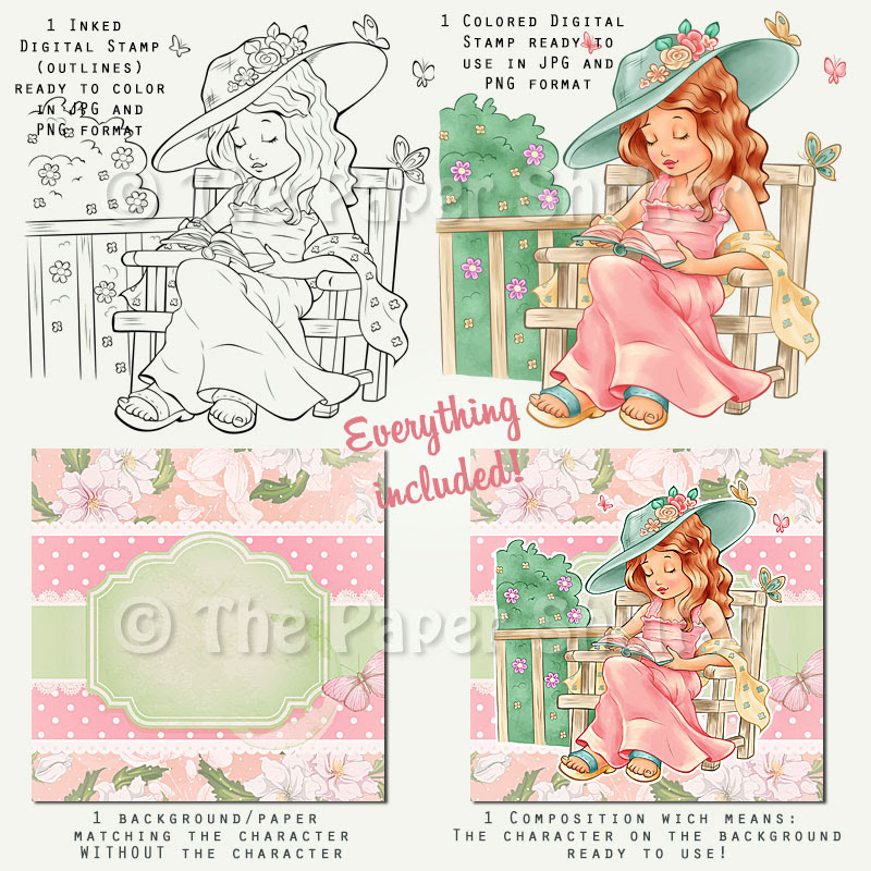 Enjoy the Spring - Digital Stamps