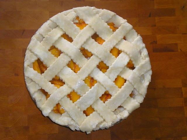 Lattice-top Peach Pie Unbaked