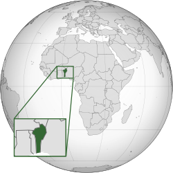 Vị trí của Bénin