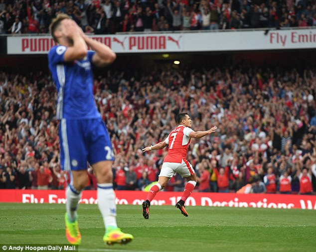 Cahill's shocking mistake allowed Alexis Sanchez to score Arsenal's opener at The Emirates