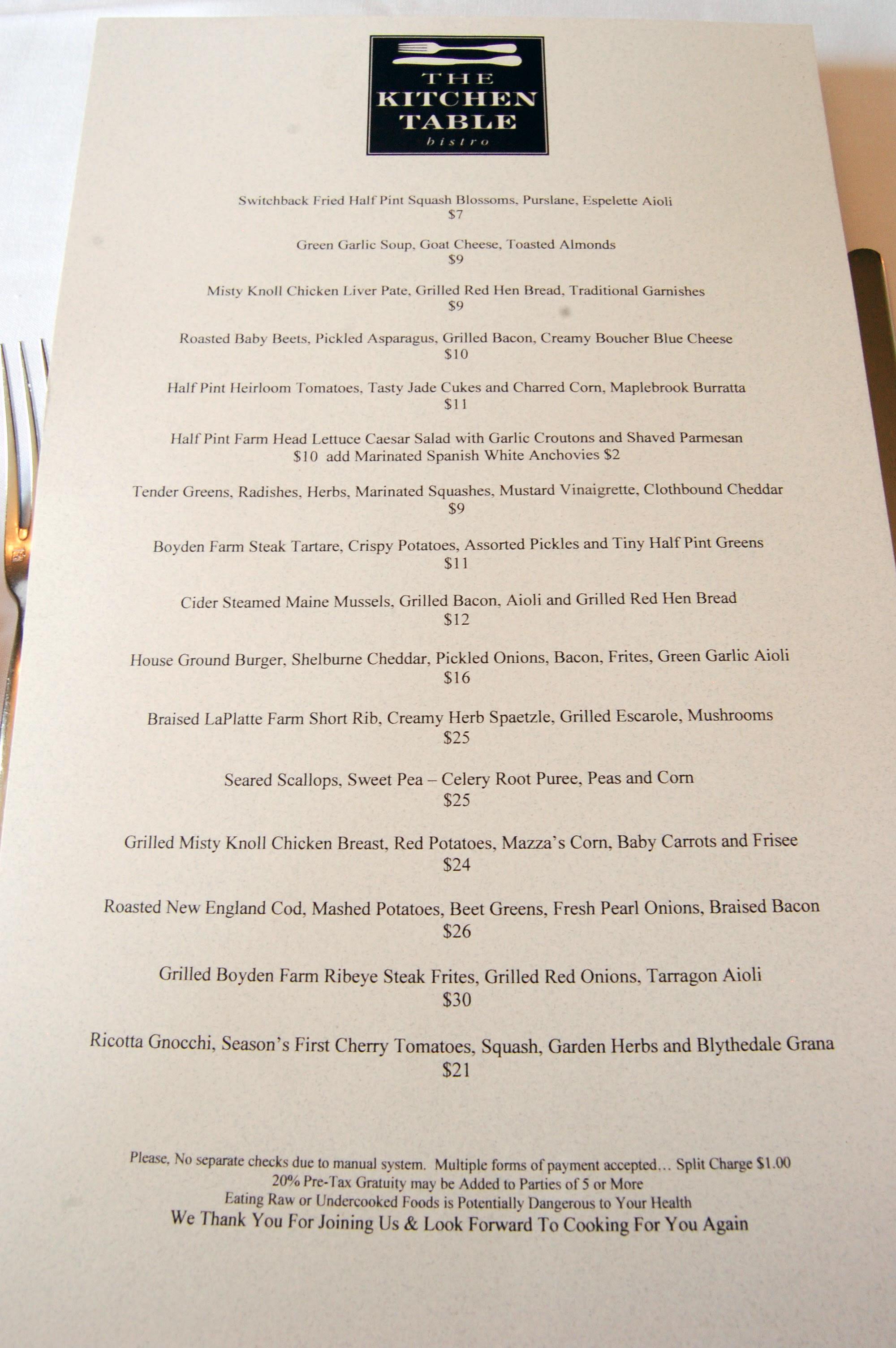 The Kitchen Table Bistro – Richmond, VT | eat a duck | purveyors ...