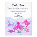 Under the Sea Girls Birthday Invitation