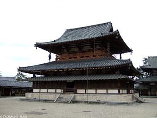 One of the main buildings at Horyuji Temple, in Nara