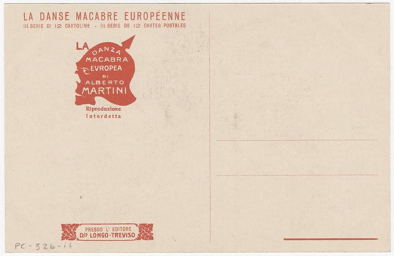 Alberto Martini - Danza Macabre Europea (backside of postcard)