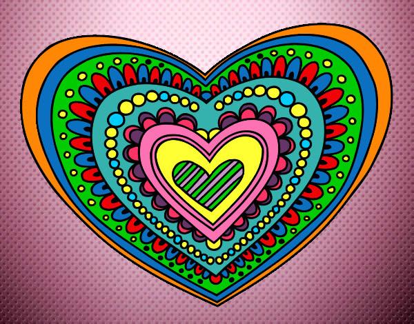 Dibujo De Corazon De Colores Pintado Por Haso En Dibujosnet El Día