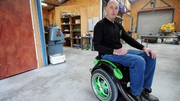 Hands-free wheelchair prototype