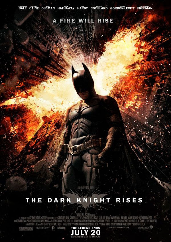 THE DARK KNIGHT RISES theatrical poster.