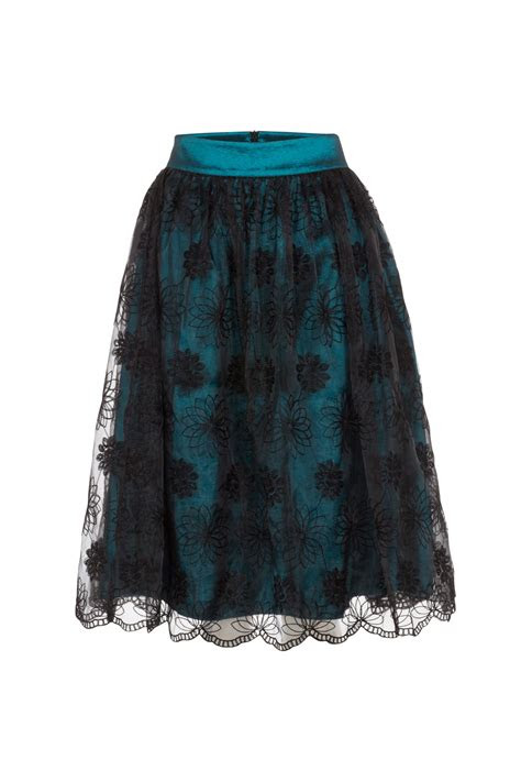 shannon lace overlay skirt vintage inspired fashion