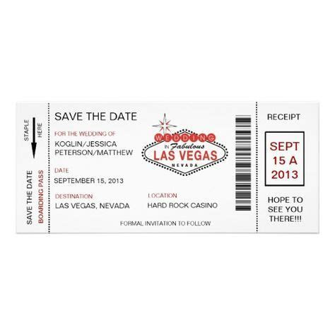 Vegas Wedding Invitations on Pinterest   Vegas Wedding