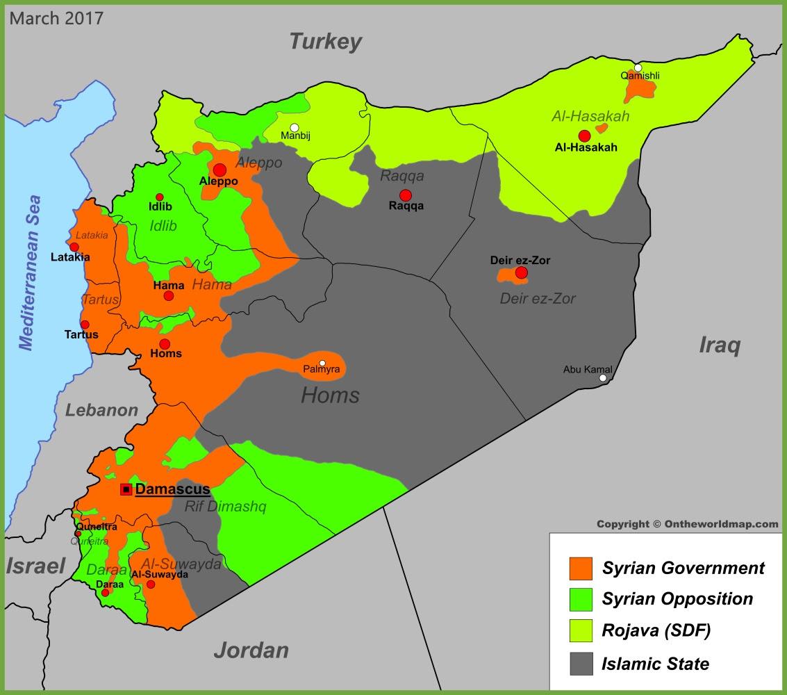 syria war map