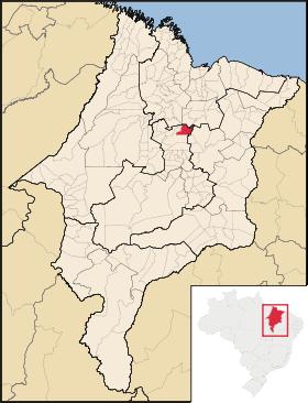 Localização de São Mateus do Maranhão