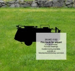 Fire Truck for Airport Silhouette Yard Art Woodworking Pattern - fee plans from WoodworkersWorkshop® Online Store - firefighting equipment,firefighters,fire trucks,yard art,painting wood crafts,scrollsawing patterns,drawings,plywood,plywoodworking plans,woodworkers projects,workshop blueprints