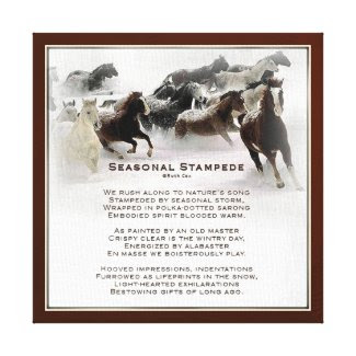 Seasonal Stampede Gallery Wrap Canvas