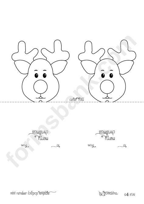 Mini Reindeer Lollipop Template | Reindeer head, Reindeer