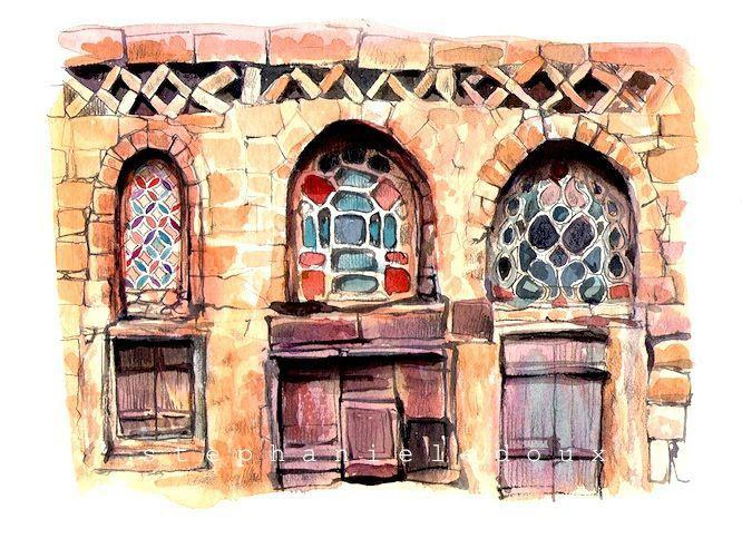 Façade pierre et vitraux blog