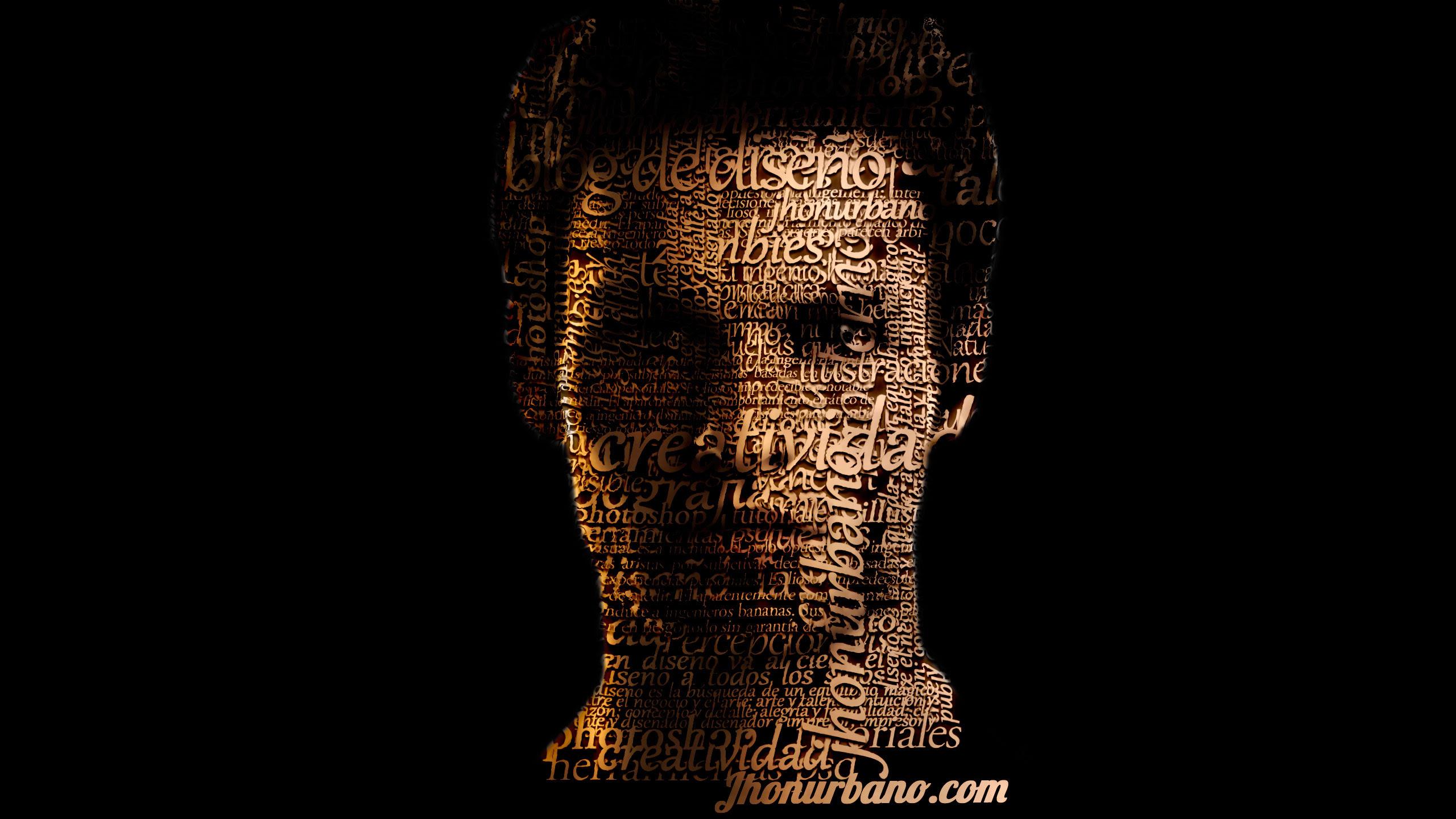 efecto retrato tipografico en Photoshop