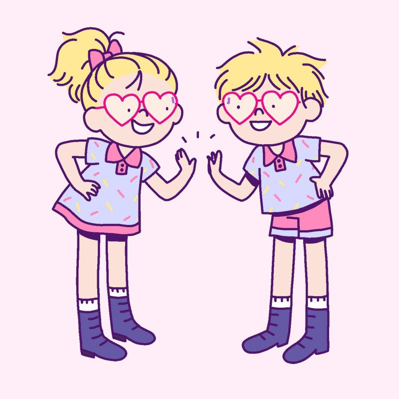 Heart twins!